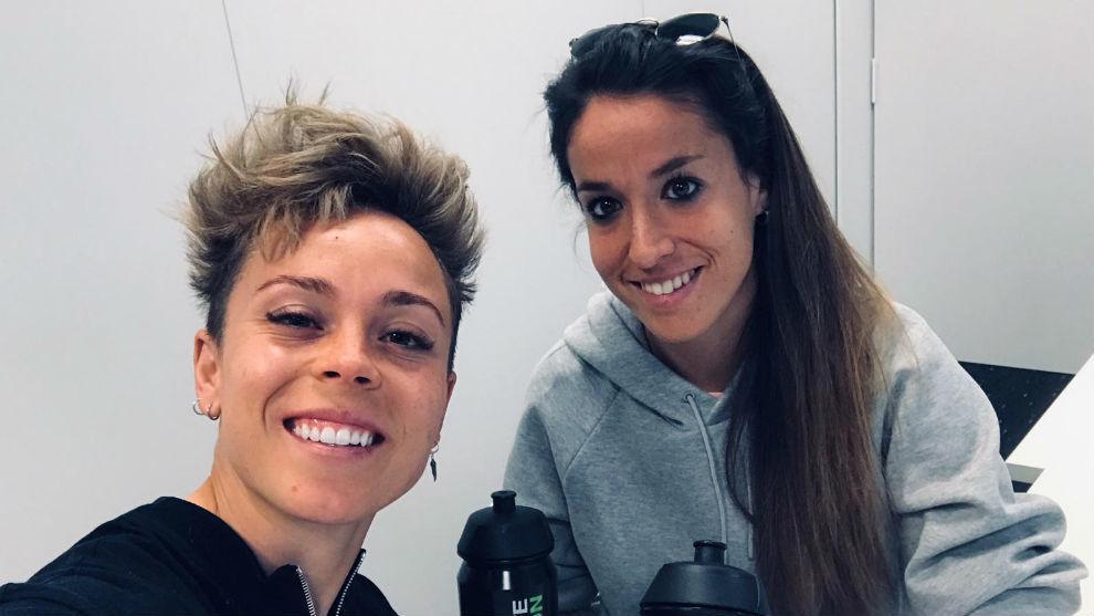 Amanda Sampedro y Olga García, jugadoras del Atlético de Madrid e...