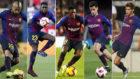 Vidal, Umtiti, Dembélé, Coutinho y Sergi Roberto