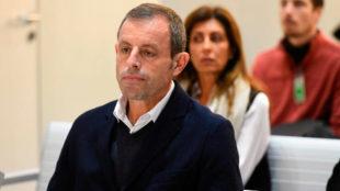 Sandro Rosell, en el banquillo de los acusados.