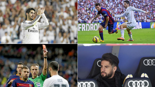 Isco, en distintos Clásicos del Bernabéu