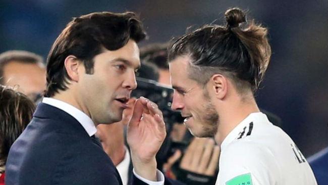 Solari y Bale, en una imagen tomada durante el Mundial de Clubes