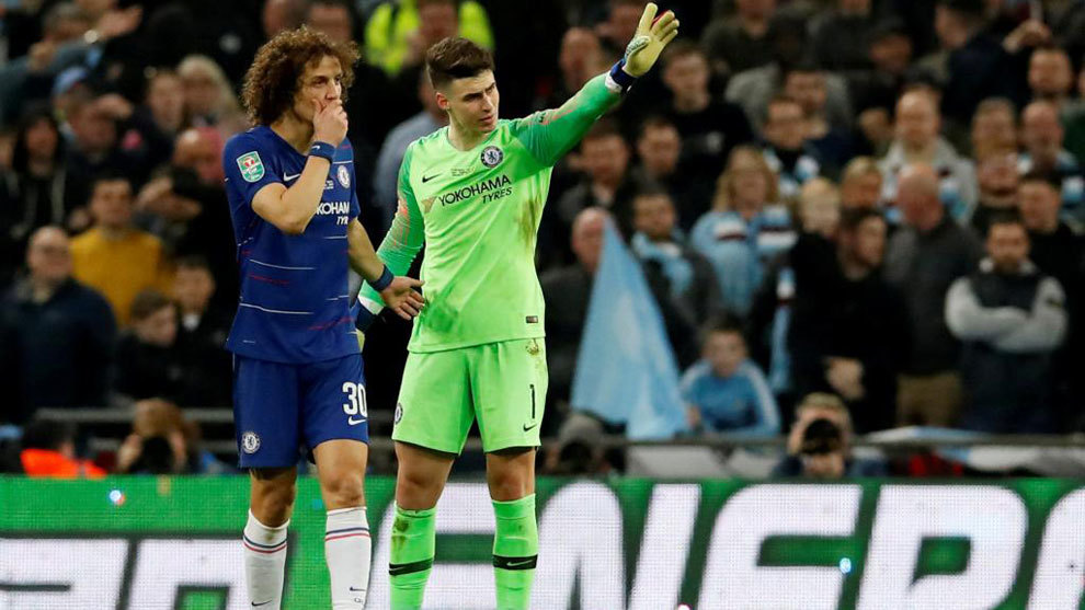 David Luiz and Kepa.