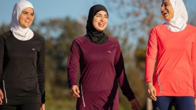 Una imagen de la campaña promocional del 'hiyab' de Decathlon.