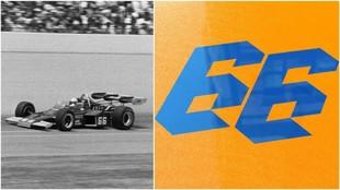 Mark Donohue, en 1972 y el '66' de Alonso.