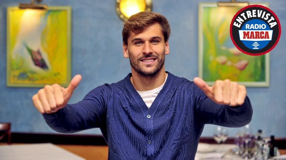 Fernando Llorente durante una entrevista para Marca