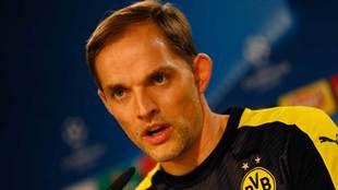 Thomas Tuchel como entrenador del Borussia Dortmund