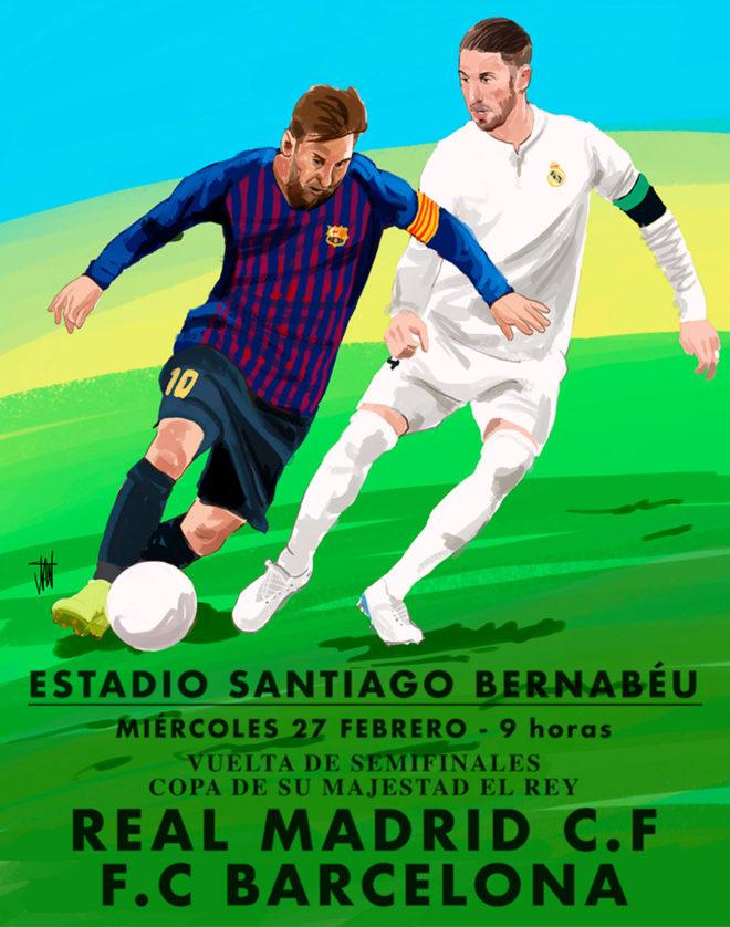 Real Madrid y Barcelona se juegan hoy su paso a la final de Copa del...