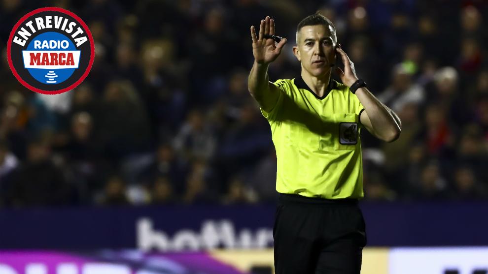 Iglesias Villanueva durante el Levante-Real Madrid