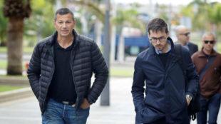 Antonio Peñalver, a la entrada del juicio contra Millán en Santa...