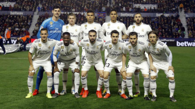 Real Madrid's starting line-up against Levante.