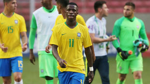 Vinicius (18), en un pasado partido con Brasil Sub 20.