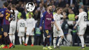 Messi se marcha del Bernabéu.