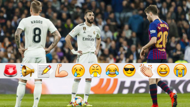 Karim Benzema waiting to kick off after conceding.