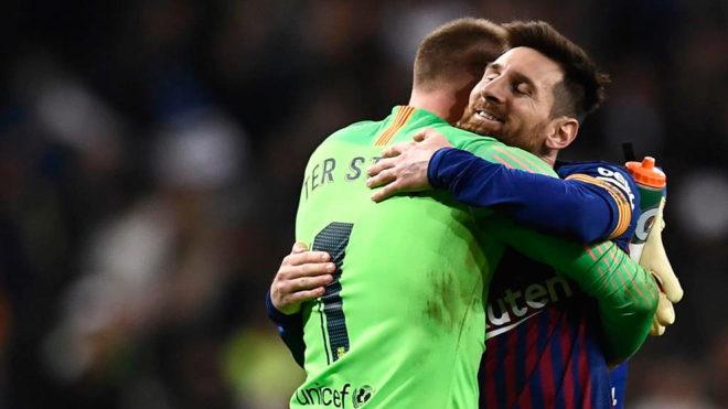 Messi y Ter Stegen.