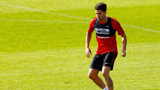 Gaitán, en su etapa en el Atlético.