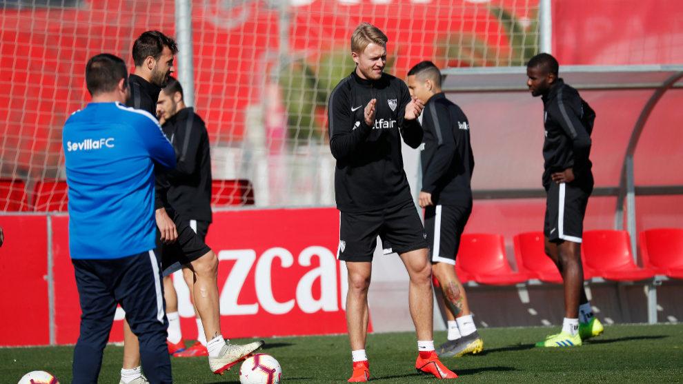 Juanpi Añor marcó ante el Sevilla en la Liga Española