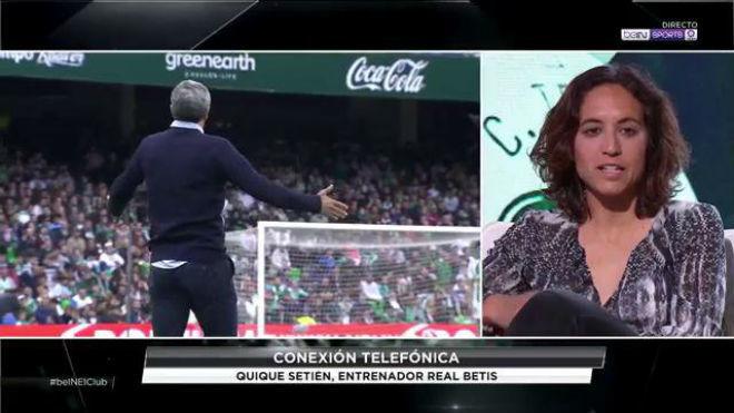 Natalia Arroyo durante una intervención en Bein Sports.