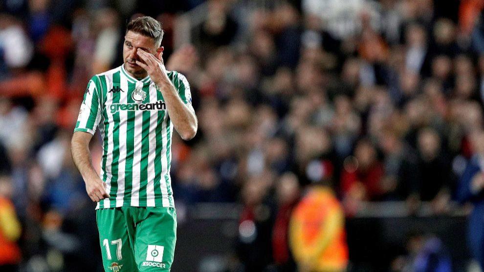 Joaquín, durante el partido