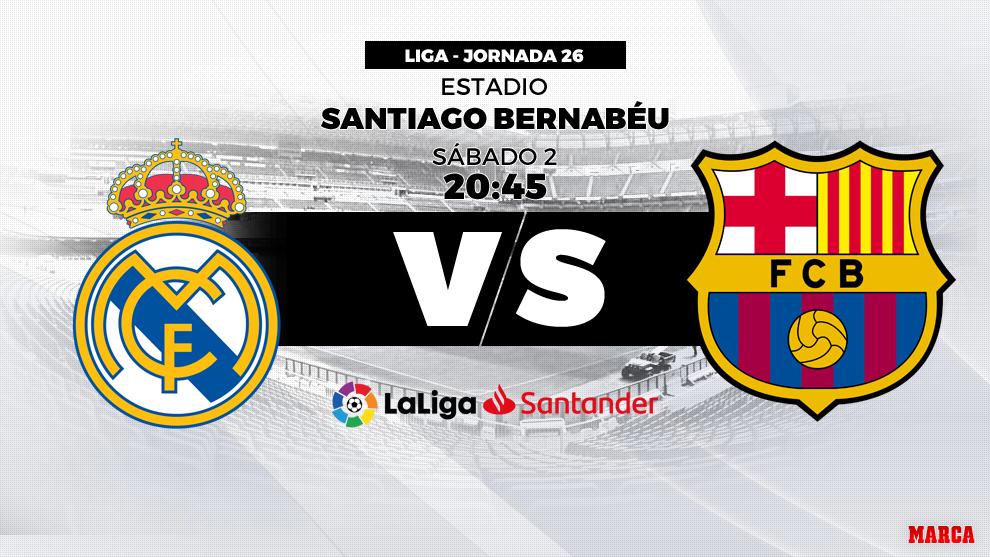 Real Madrid - Barcelona - Clásico de LaLiga - 02/03/2019 - 20:45