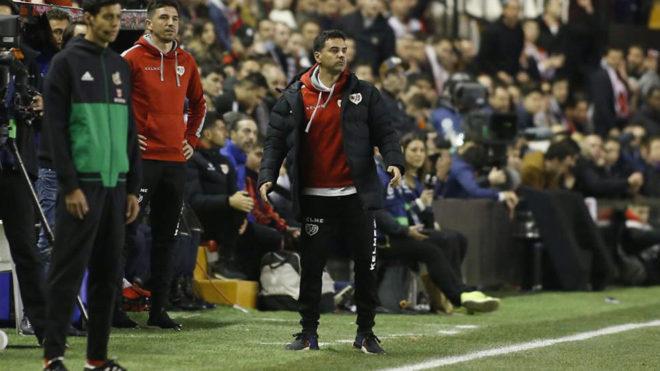 Míchel, en el partido ante el Girona.