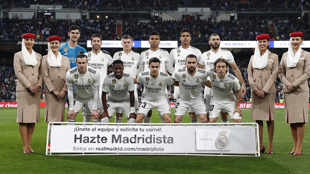 El once del Madrid que se ha enfrentado al Barcelona.