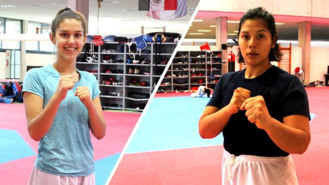 Leslie Soltero (izq) y Briseida Acosta (der) ganaron bronce y oro,...