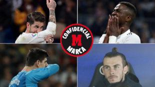 Ramos, Vinícius, Courtois y Bale, en los últimos partidos