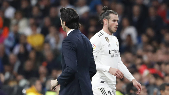 Gareth Bale was substituted during El Clasico