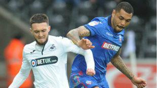 Partido entre el Swansea y el Bolton.