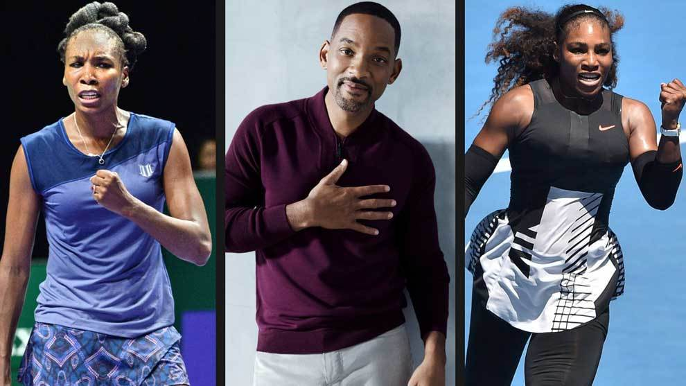 Venus Williams , Will Smith y Serena Williams