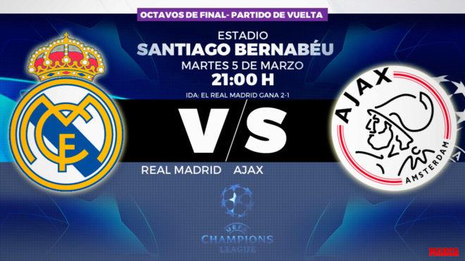 estilo limitado moda mejor valorada buscar Champions: Real Madrid - Ajax: horario, canal y dónde ver en ...