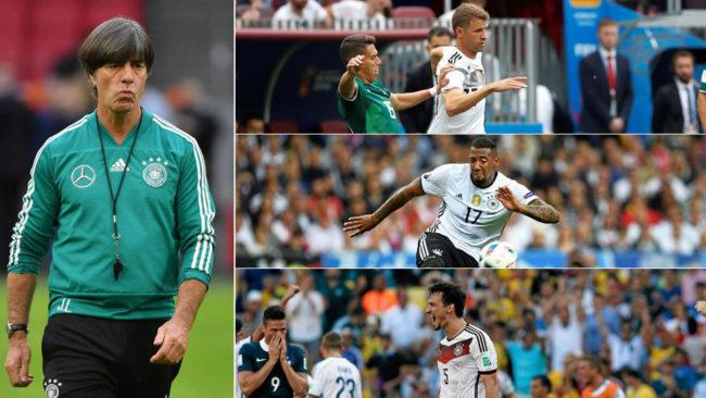 Löw, Müller, Boateng y Hummels.