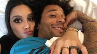 La actriz Clarice Alves y el futbolista Marcelo