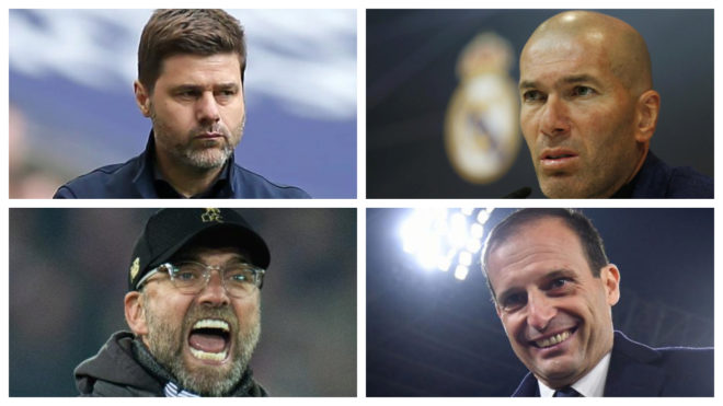 Mauricio Pochettino, Zinedine Zidane, Jurgen Klopp and Massimiliano...