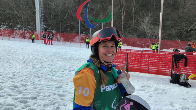 Astrid Fina, en los Juegos Paralímpicos de Pyeongchang