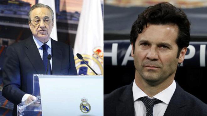 Florentino Perez and Santiago Solari