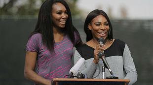 Venus y Serena, durante una comparecencia pública
