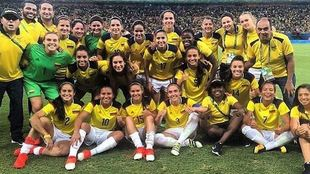 La selección de Colombia en una foto de Nicole Regnier