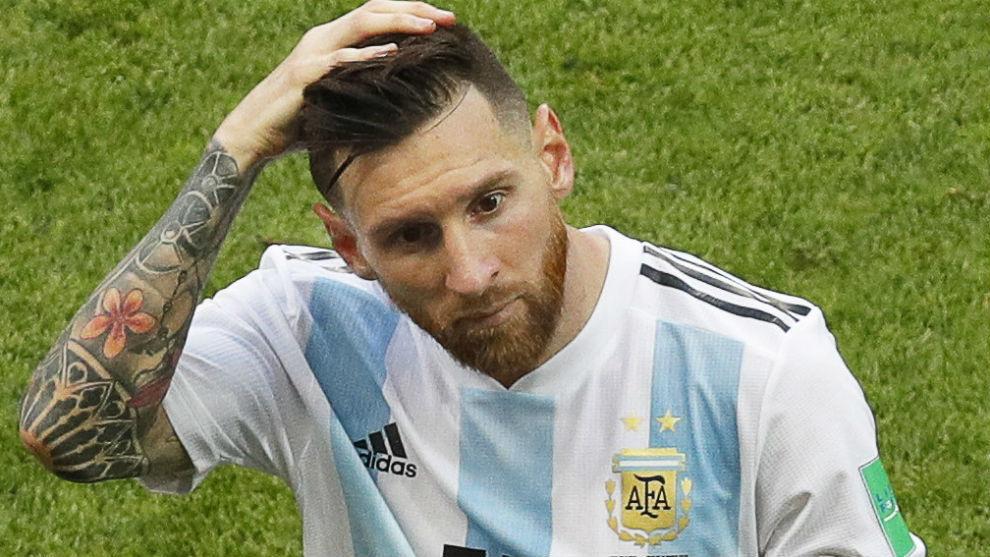 Messi, con Argentina durante el pasado Mundial.