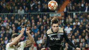 Tagliafico, en el partido del Bernabéu.