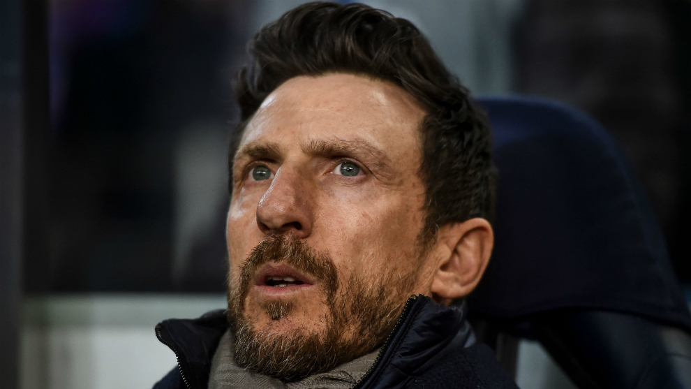 Di Francesco during the match against Porto.