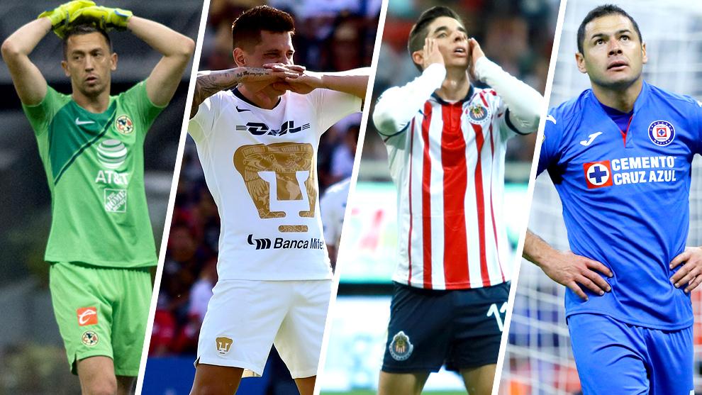 América, Pumas, Chivas y Cruz Azul corren riesgo de estar fuera de la...