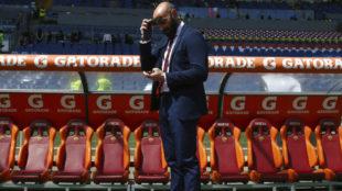 Monchi, en el Olímpico de Roma.