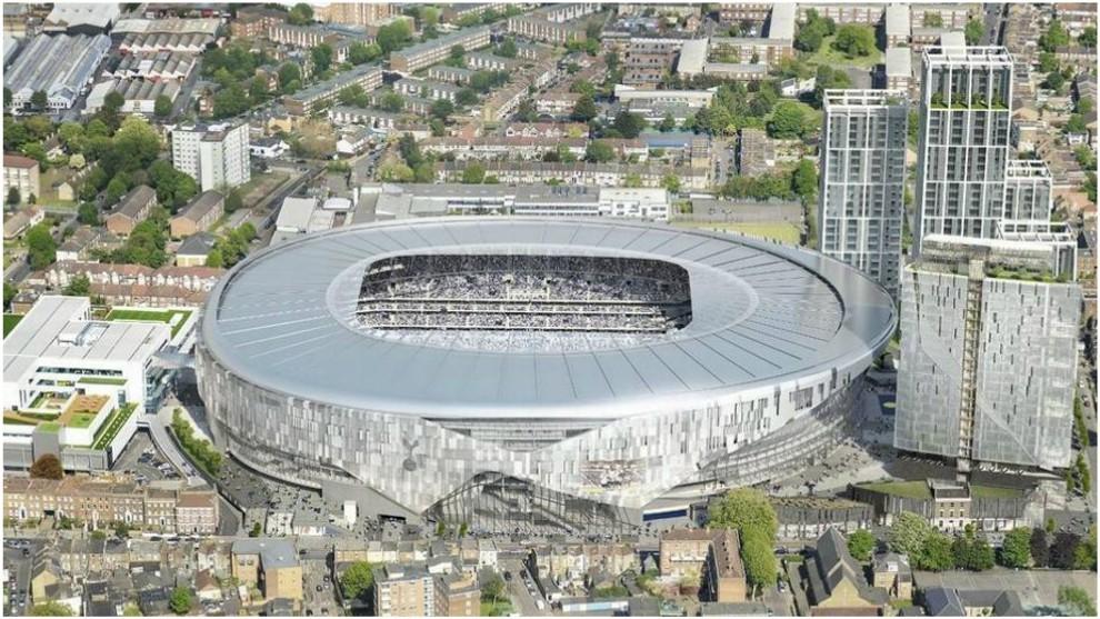 Vista aérea del nuevo estadio del Tottenham.