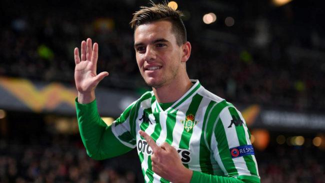 Giovani Lo Celso celebra un gol con el Betis en Europa League