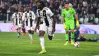 Kean celebra su segundo gol al Udinese.
