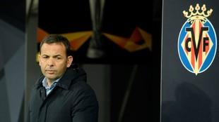 El entrenador del Villarreal, en el pasado desplazamiento a San...