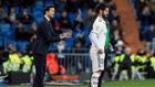 Solari e Isco, en un partido del Real Madrid.