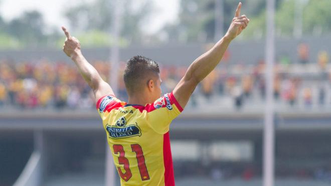 Lezcano celebra su gol en CU