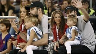 Piqué asistió junto a su pareja Shakira y sus dos hijos al...